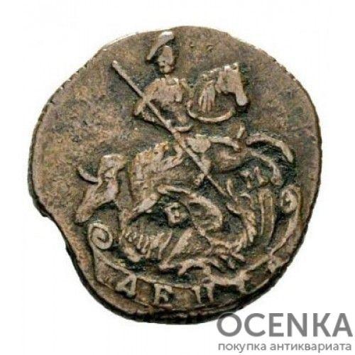 Медная монета Денга (Деньга) Екатерины 2 - 6