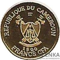 Золотая монета 1500 Франков (1500 Francs) Камеруна