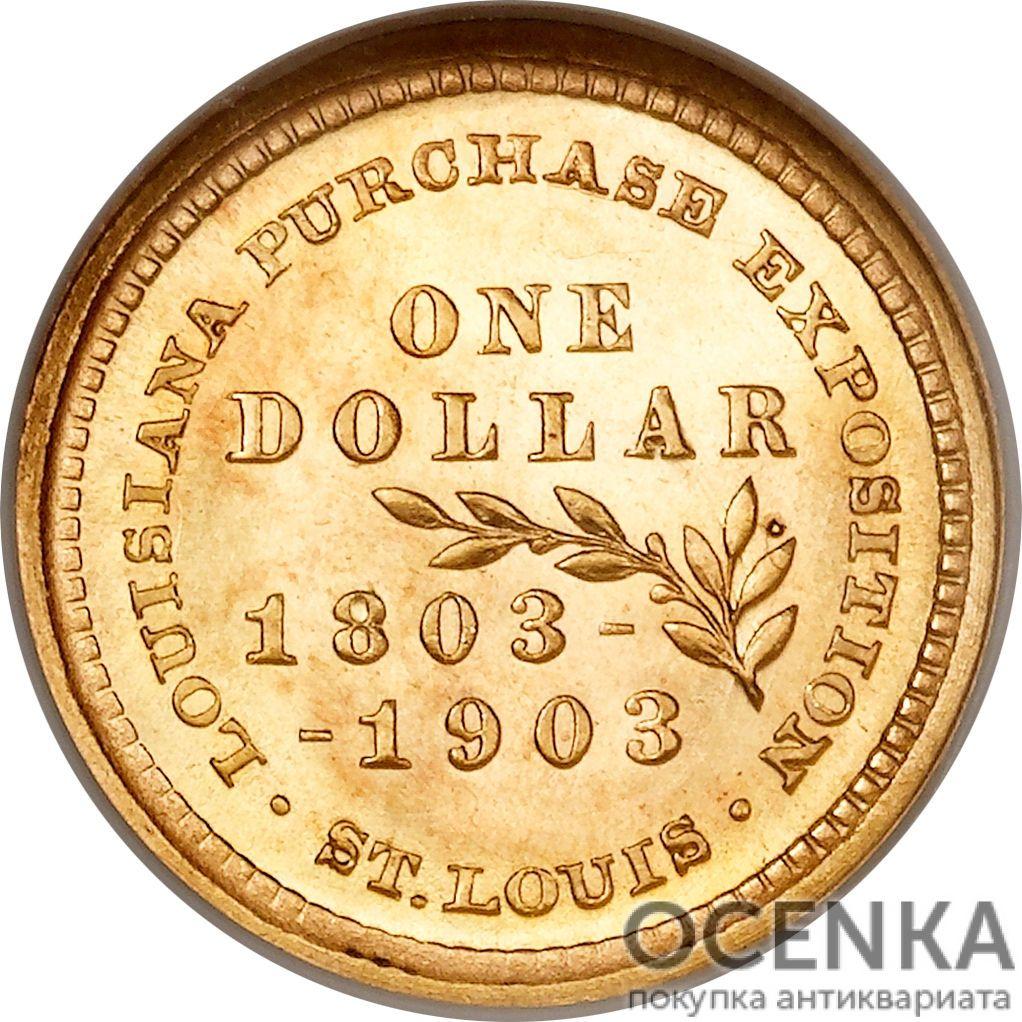 Золотая монета 1 Dollar (доллар) США - 4