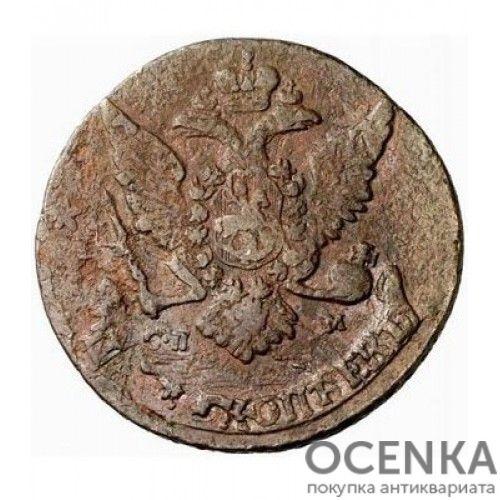 Медная монета 5 копеек Екатерины 2 - 4