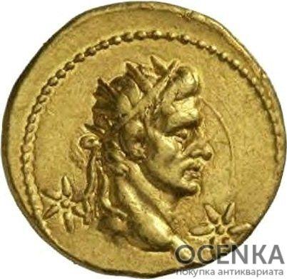 Золотой ауреус, Калигула (Гай Юлий Цезарь Август Германик), 37-41 год - 1
