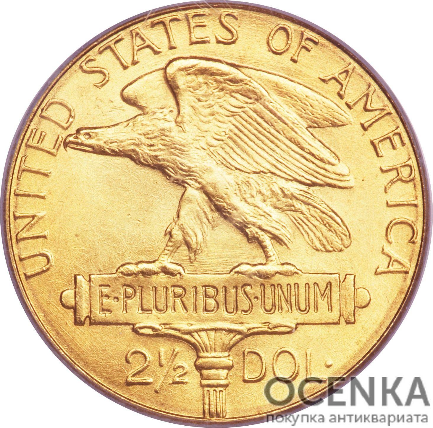 Золотая монета 2½ Dollars (2,5 доллара) США - 8