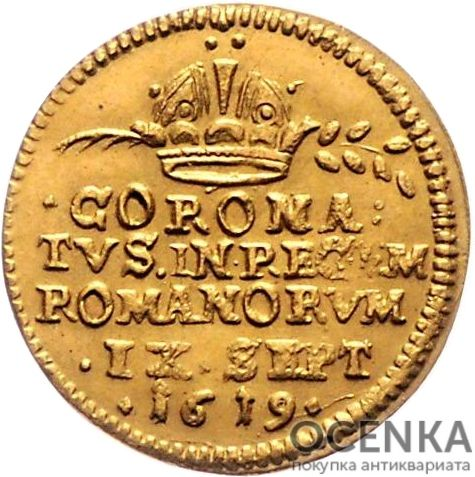 Золотая монета ½ Дуката Германия - 1