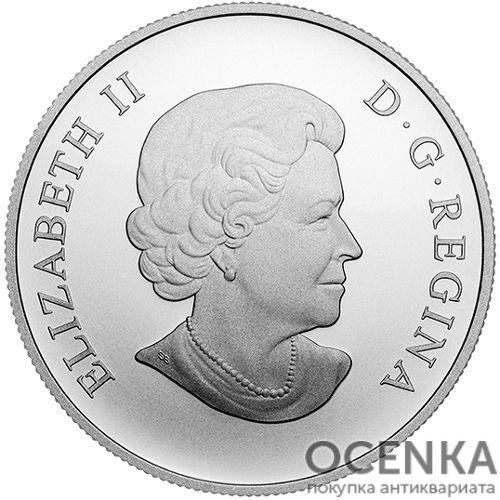 Серебряная монета 100 Долларов Канады - 2