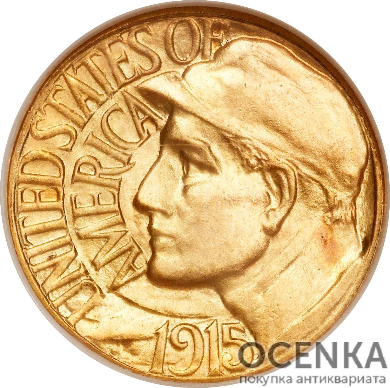 Золотая монета 1 Dollar (доллар) США - 9