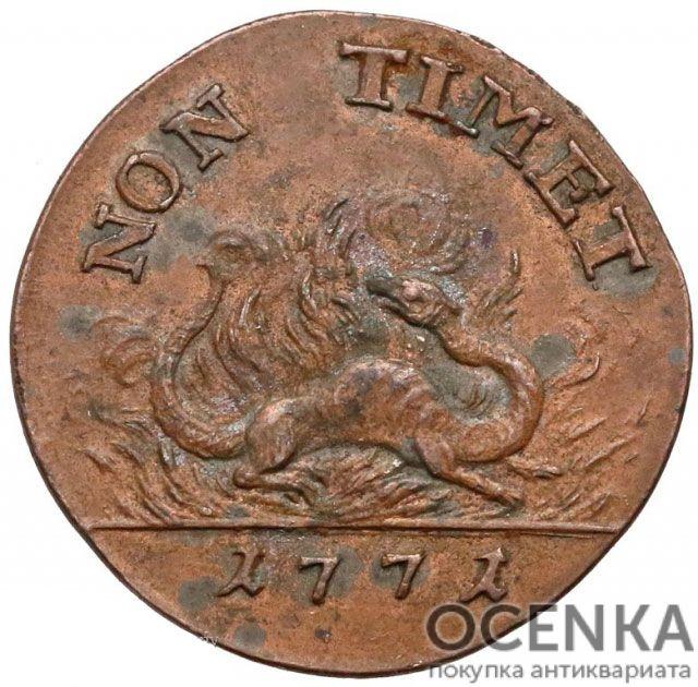 Медная монета Двугрош Средневековой Европы