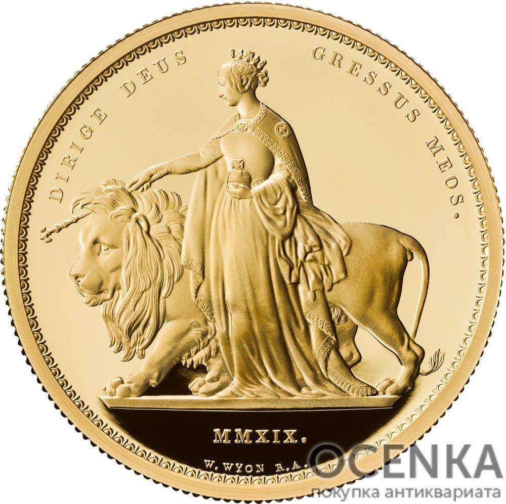 Золотая монета 2000 Pounds (2000 фунтов) Великобритания - 1