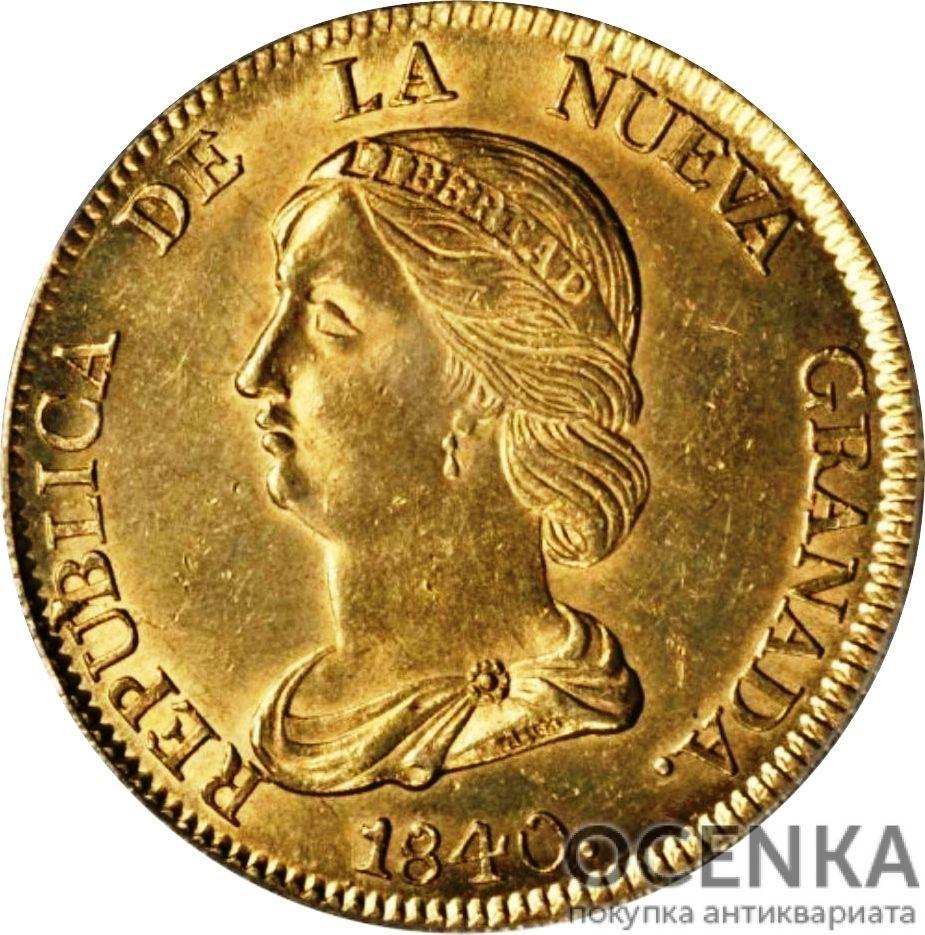 Золотая монета 16 Песо (16 Pesos) Колумбия - 1