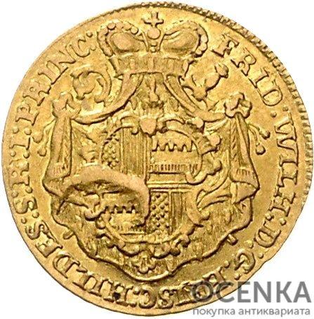 Золотая монета ½ Пистоля Германия - 3