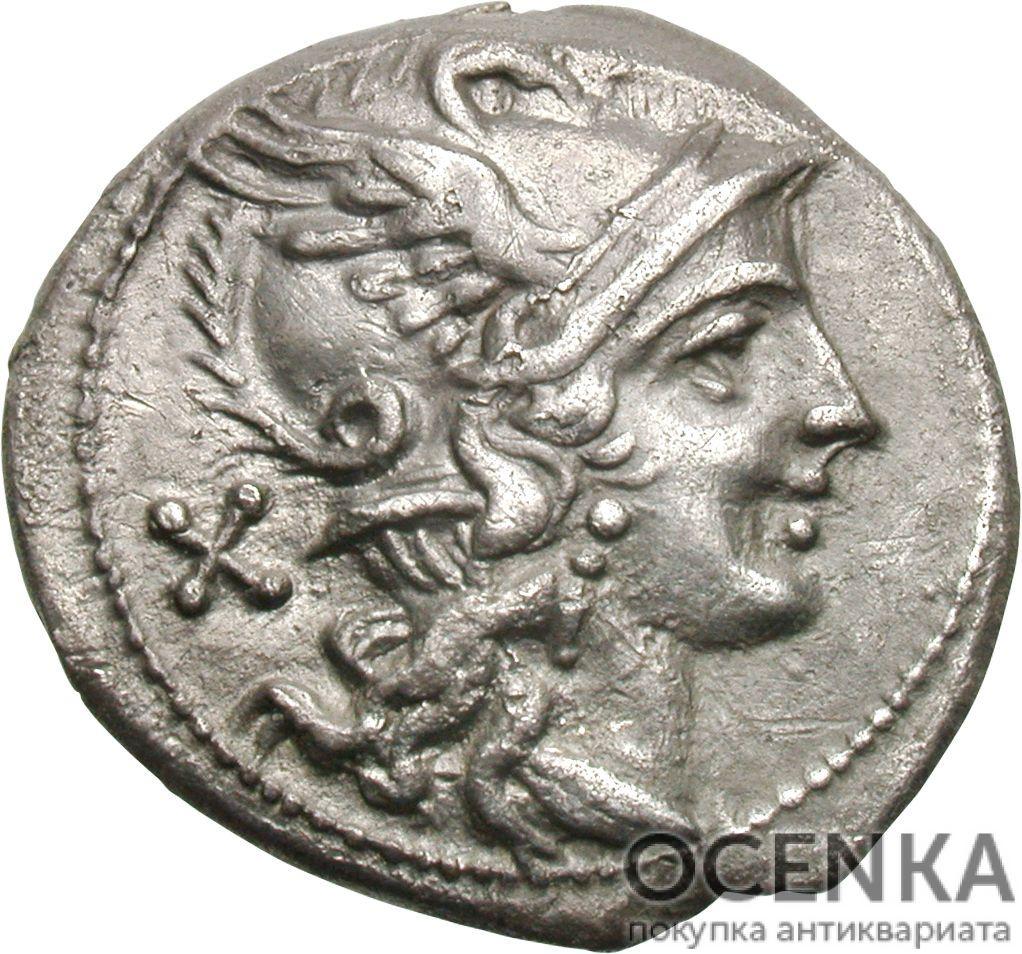 Серебряный Республиканский Денарий Анонимного выпуска, 199-170 год до н.э.