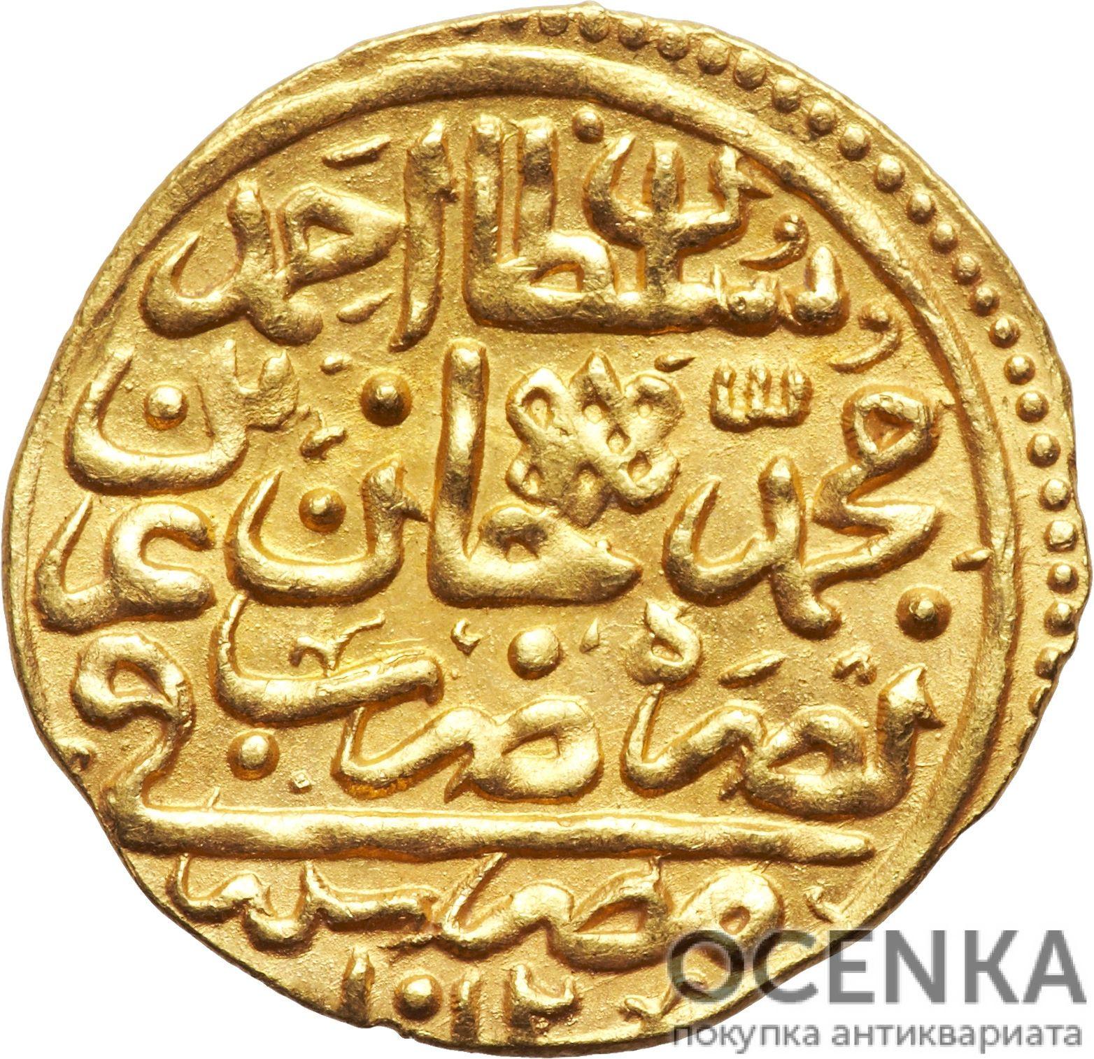 Золотая монета 1 Султани (1 Sultani) Египет - 5