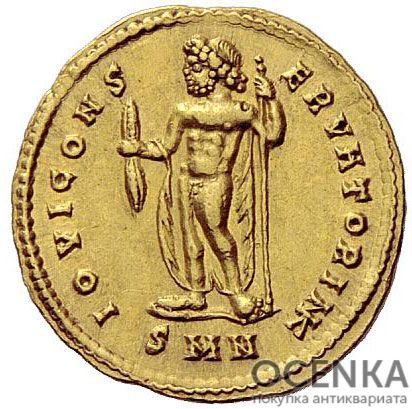 Золотой ауреус, Гай Цезарь Галерий Валерий Максимиан Август, 305-311 год - 1