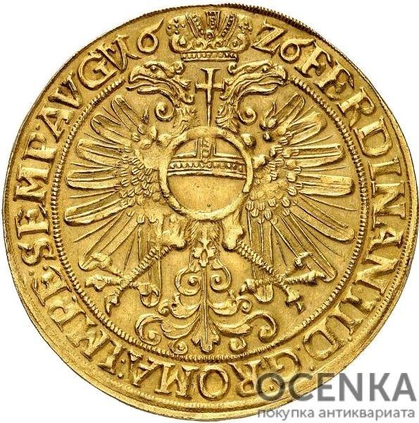 Золотая монета 4 Гульдена Германия - 3