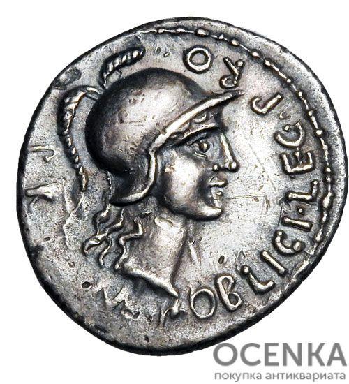 Серебряный Республиканский Денарий Гнея Помпея Великого, 71 год до н.э.