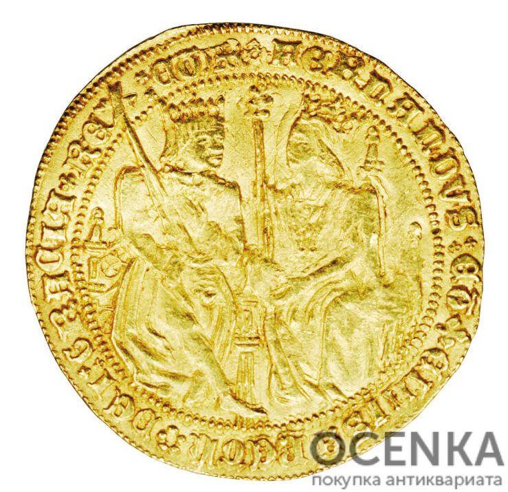 Золотая монета 2 Кастельяно (2 Castellanos) Испания - 1