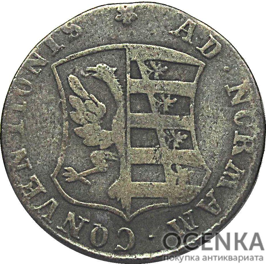 Серебряная монета 4 Пфеннига (4 Pfennig) Германия - 1