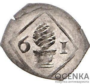 Серебряная монета Пфенниг Средневековой Германии - 1