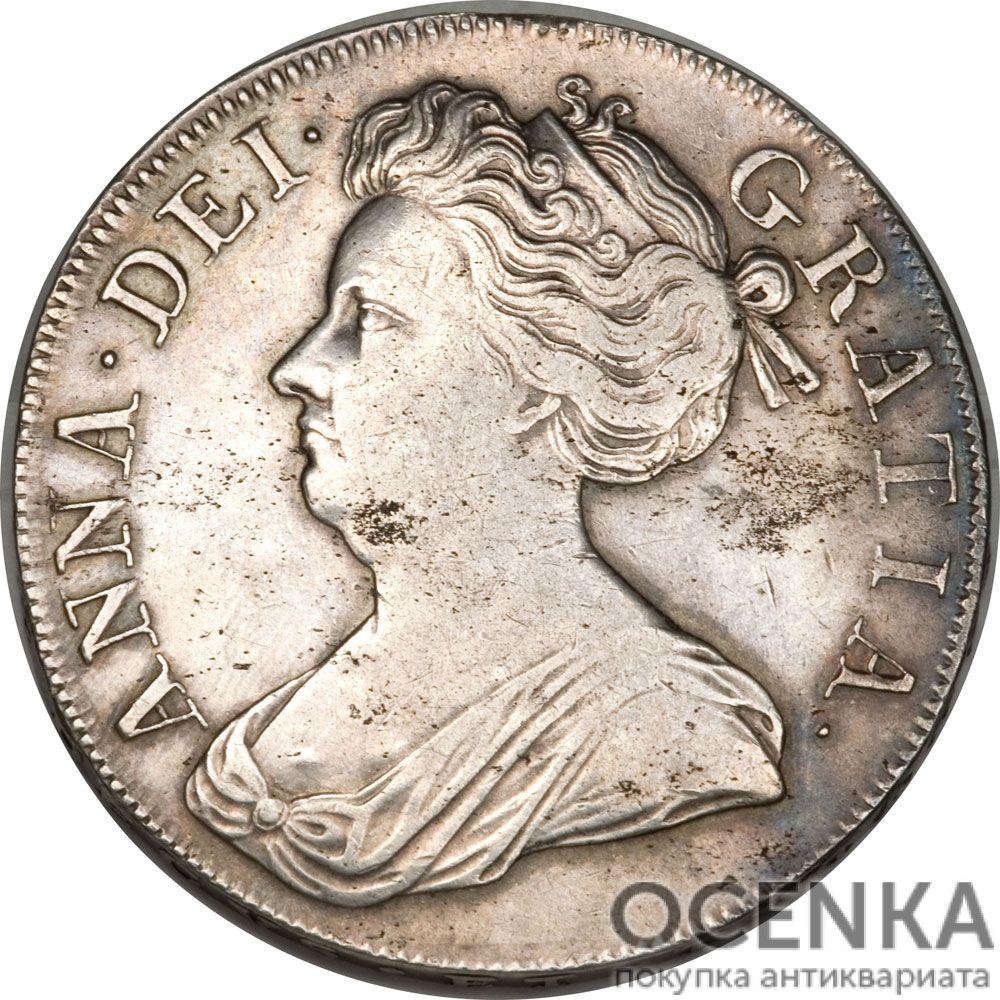 Серебряная монета 1 Крона (1 Crown) Великобритания - 5