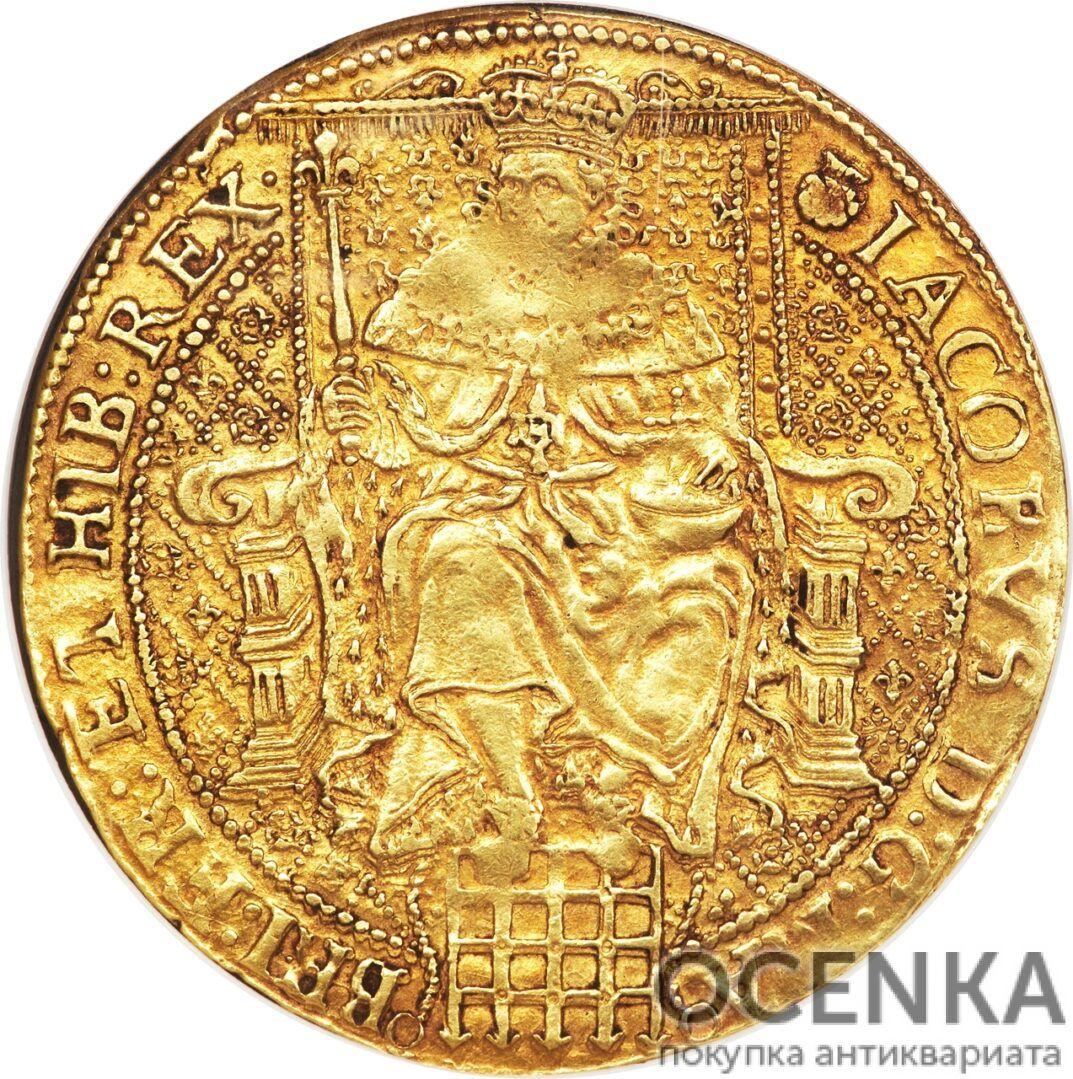 Золотая монета 1 Rose-ryal (розенобль) Великобритания - 2