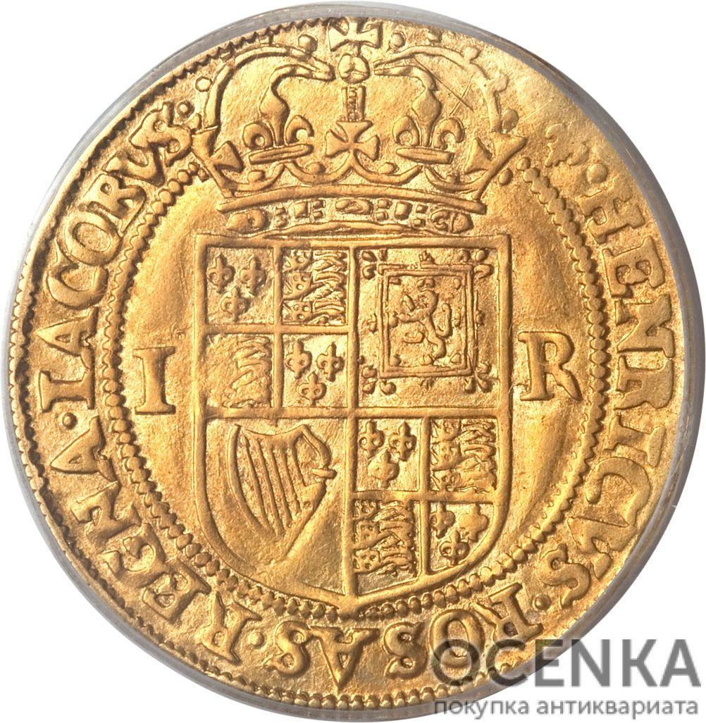 Золотая монета Double Crown (двойная крона) Великобритания - 1