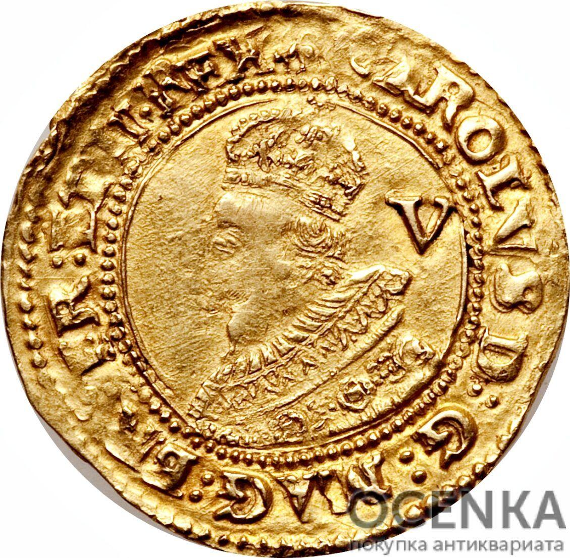 Золотая монета 1 Crown (крона) Великобритания - 8
