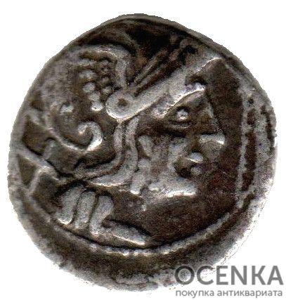 Серебряный республиканский Денарий Анонимного выпуск, 211-208 год до н.э.
