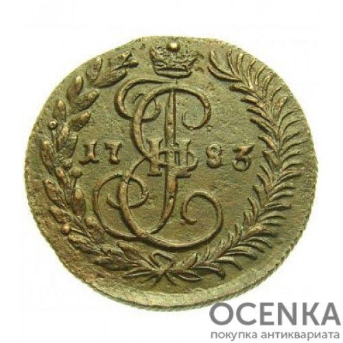 Медная монета Денга (Деньга) Екатерины 2 - 5