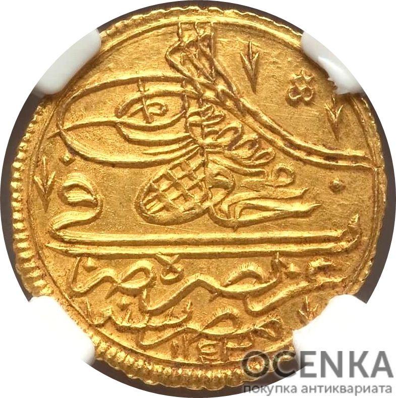 Золотая монета 1 Зери-Махбуб (1 Zeri Mahbub) Египет - 4