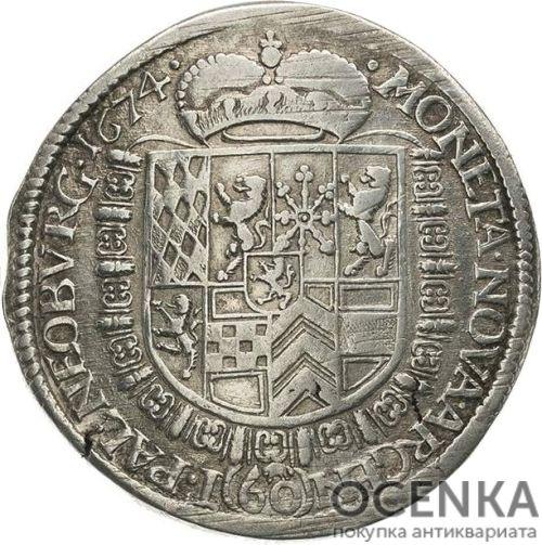 Серебряная монета Гульден Средневековой Германии - 4