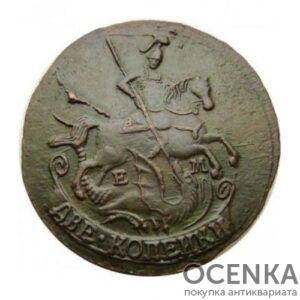 Медная монета 2 копейки Екатерины 2