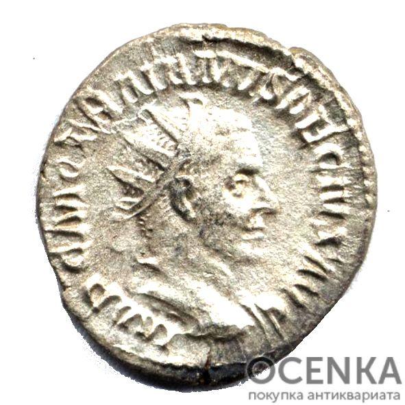 Серебряный Антониниан Цезаря Гая Мессия Квинта Траяна Деция Августа, 249-251 год