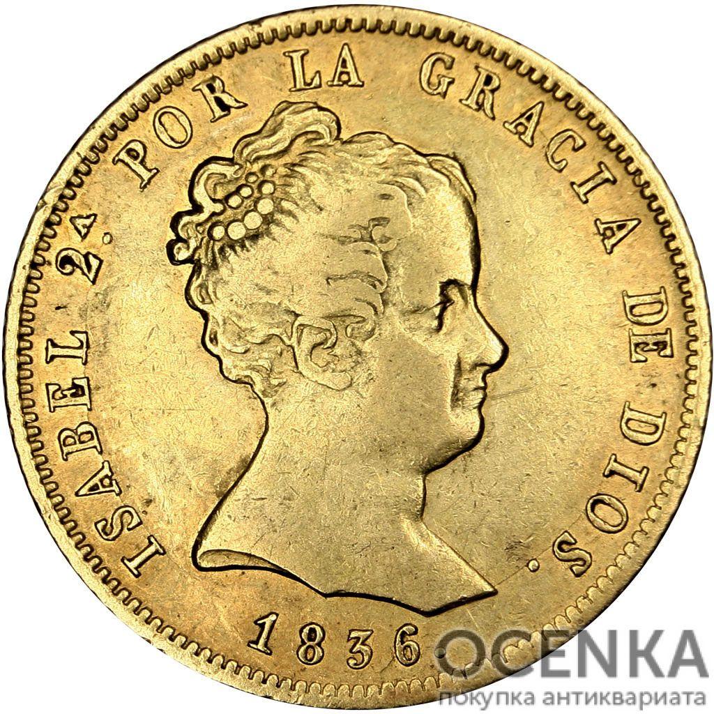 Золотая монета 80 Реалов (80 Reales) Испания - 5