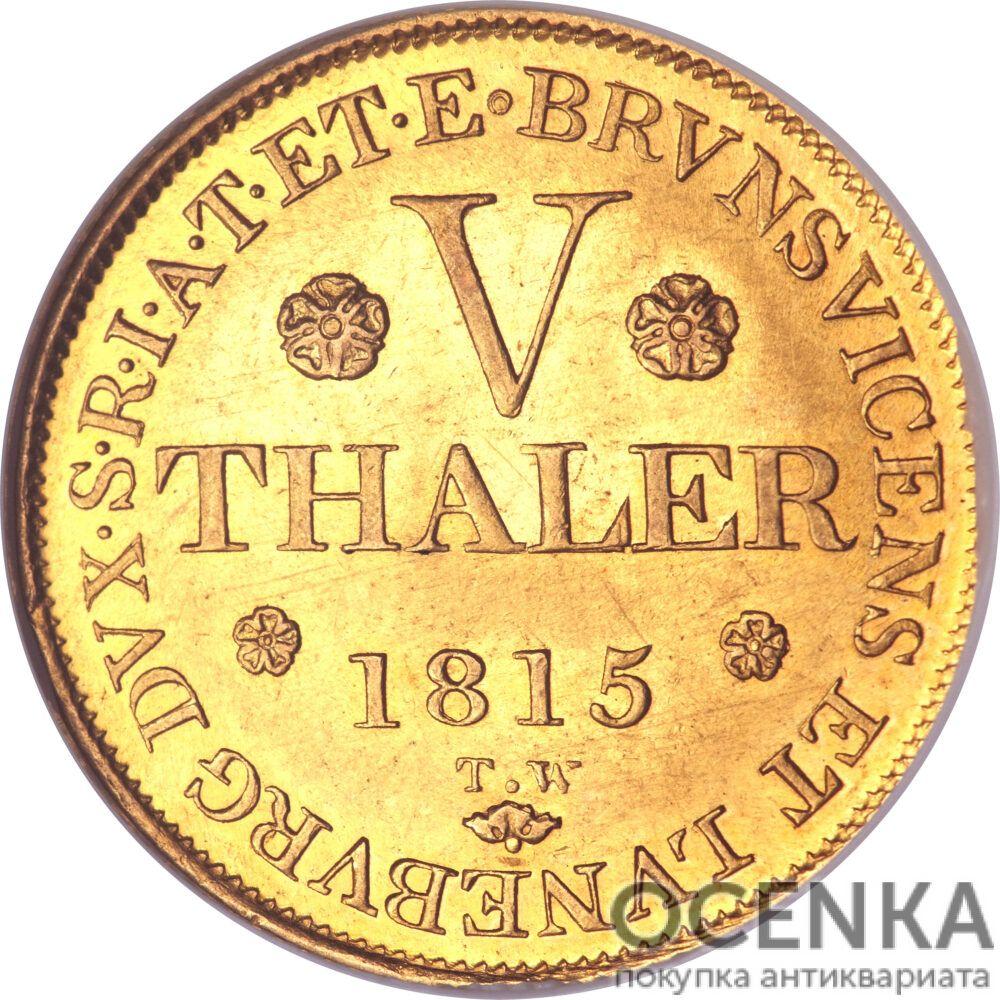 Золотая монета 5 Талеров Германия