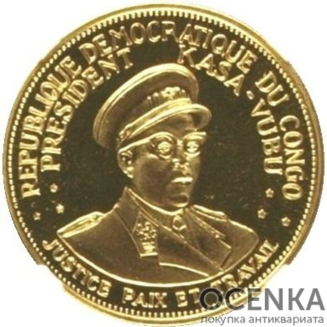 Золотая монета 50 Франков (50 Francs) Конго - 1
