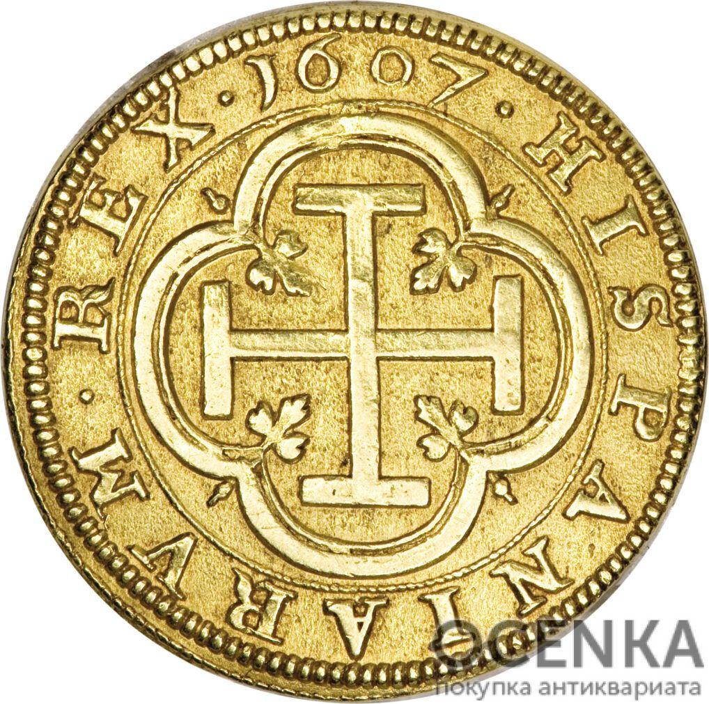 Золотая монета 4 Эскудо (4 Escudos) Испания
