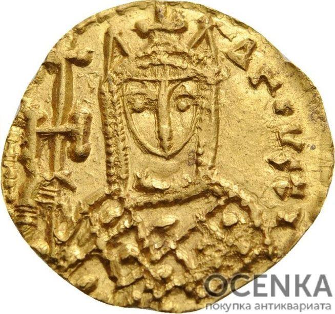 Золотой солид Византии, Императрица Ирина, 797-802 год - 1