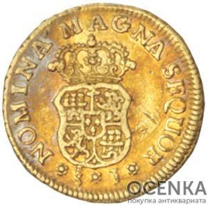 Золотая монета 1 Эскудо (1 Escudo) Чили - 2