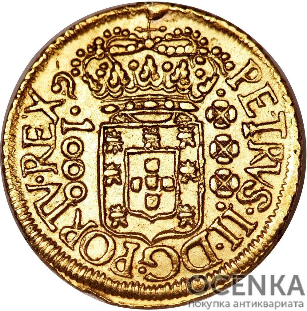 Золотая монета 800 рейсов (800 Réis) Бразилия