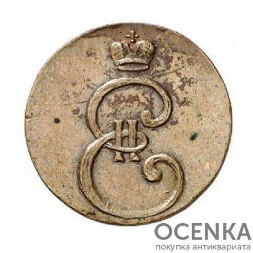 Медная монета Денга (Деньга) Екатерины 2 - 1