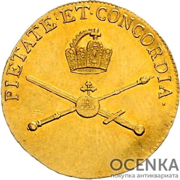 Золотая монета ¾ Дуката Германия - 4