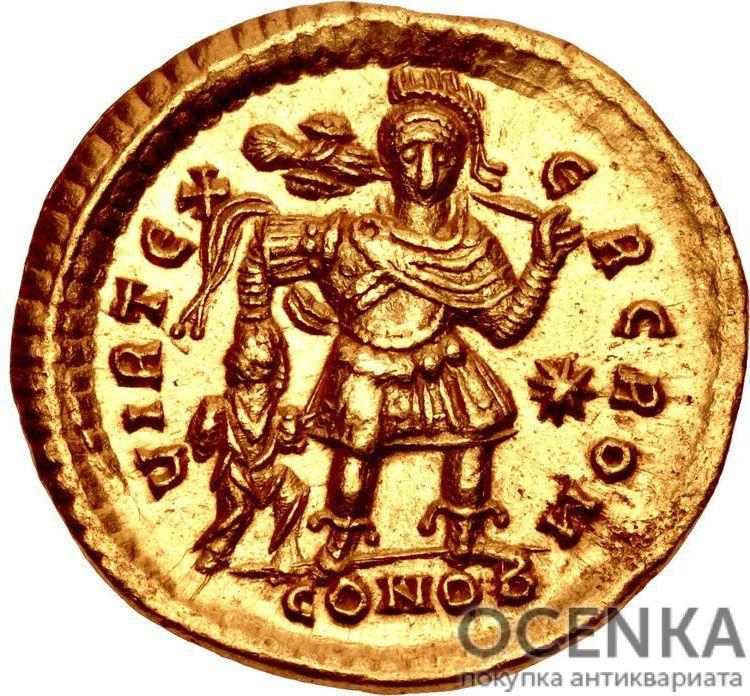 Золотой солид Византии, Флавий Феодосий Юниор, 402-450 год - 1