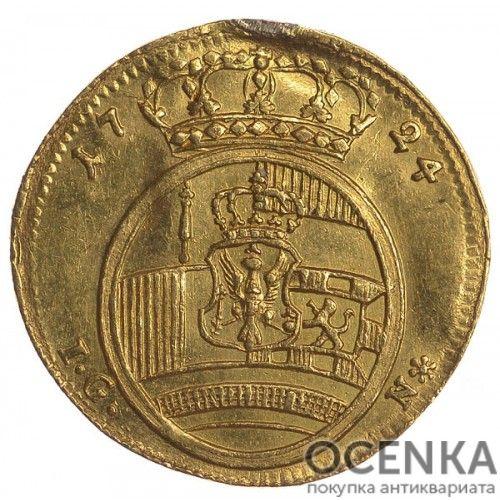 Золотая монета 1 Дукат Германия - 1