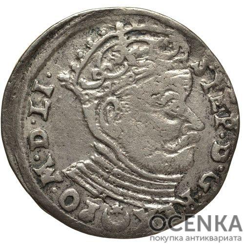 Серебряная монета Трояк (3 гроша) Средневековой Литвы - 3