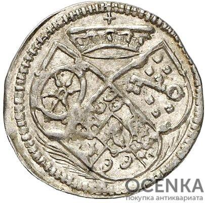 Серебряная монета Альбус Средневековой Германии - 3