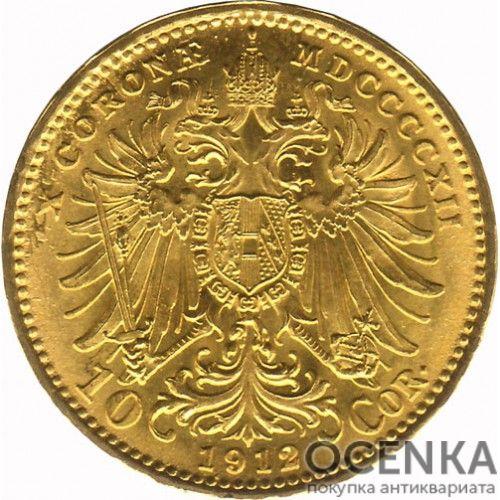 Золотая монета 10 крон Австро-Венгрии - 8