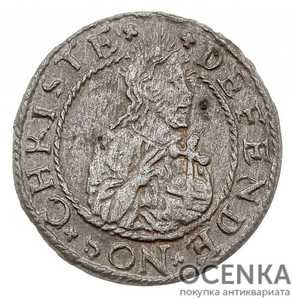 Серебряная монета Шеляг (1/3 Гроша) Средневековой Польши - 5