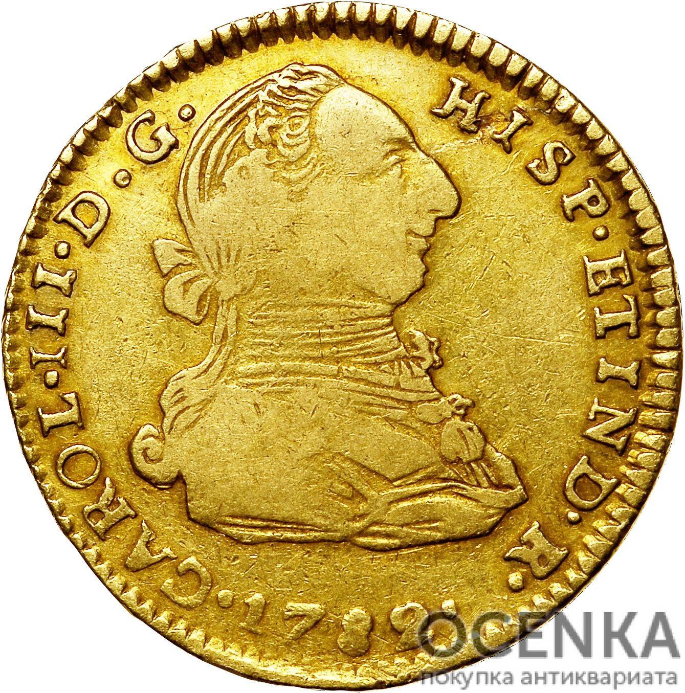 Золотая монета 2 эскудо (2 Escudos) Боливия - 1