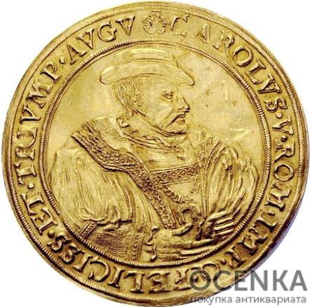Золотая монета 4 Гульдена Германия - 1
