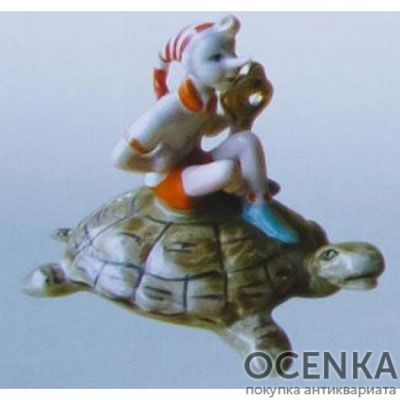 Статуэтка Буратино на черепахе Тортилле (А. Н. Толстой «Буратино»)