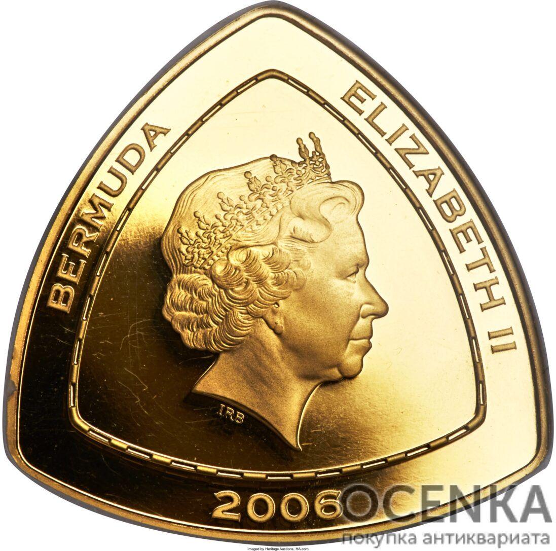 Золотая монета 30 долларов Бермудских островов - 1